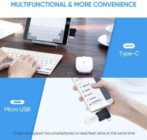 UGREEN Micro USB/ USB C to USB Adapter, 2 in 1 with OTG Support