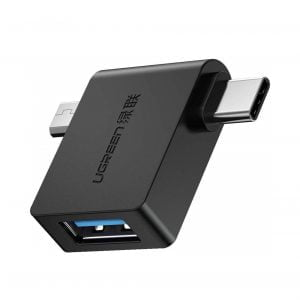 UGREEN Micro USB USB C to USB Adapter, 2 in 1 with OTG Support