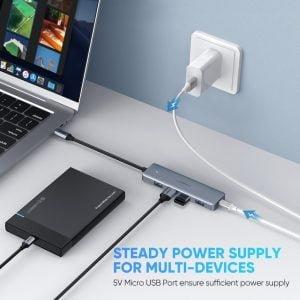 UGREEN USB C Hub with 4 USB 3.0 Ports, OTG and Power