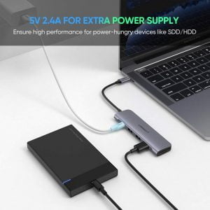 UGREEN USB C Hub Card Reader, SD/TF Ports, Power Port and OTG Support