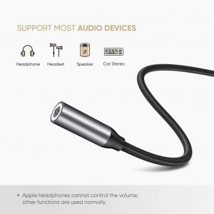 UGREEN USB C Headphone Adapter, Nylon Braided