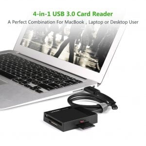 UGREEN USB Card Reader with Micro USB Extension, 4 Slots and OTG