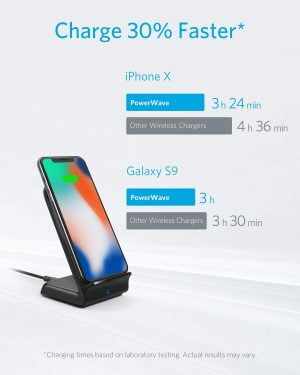 Anker Wireless Charger PowerWave Stand, 7.5/10w, Without Adapter