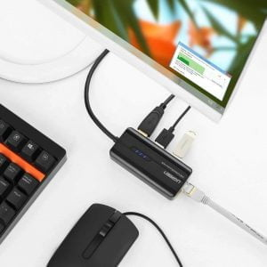 UGREEN USB Hub with Ethernet Adapter, 10/100/1000 Mbps
