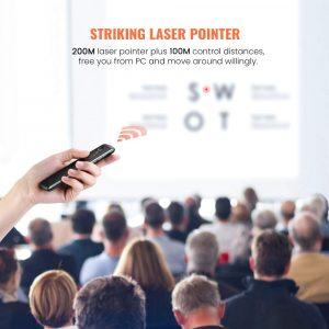 UGREEN Wireless Presenter Remote with Powerful Laser Pointer