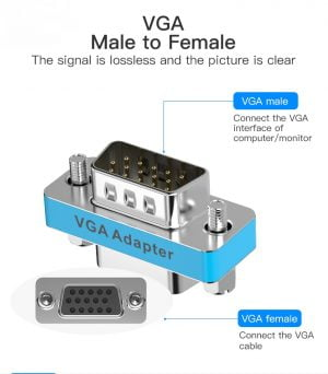 VENTION VGA Male to Female Adapter