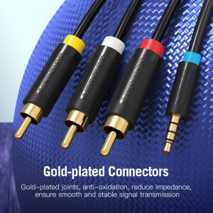 VENTION 3.5mm Male to RCA Male Audio Video Cable, 1.5 Meters