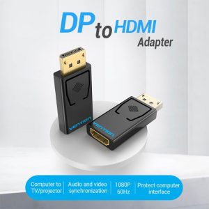 VENTION DP to HDMI Adapter, DisplayPort Male to HDMI Female, 1 Piece