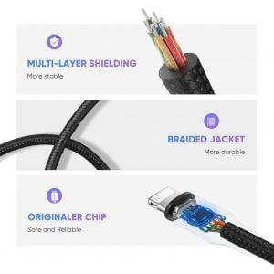 UGREEN Lightning to 3.5mm Adapter, Nylon Braided