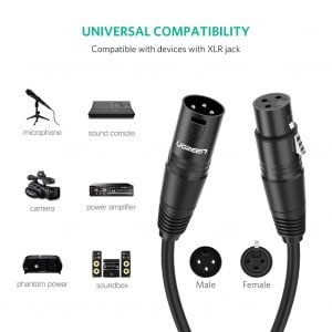UGREEN Microphone XLR Extension Cable, 3 Meters