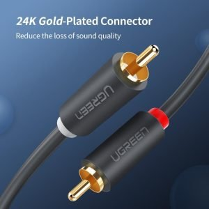 UGREEN 2 RCA to 2 RCA Audio Cable, 2 Meters