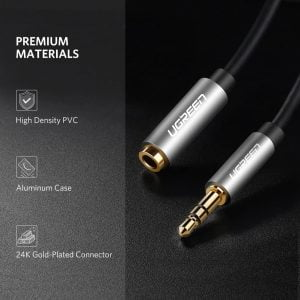 UGREEN Audio Male to Female Cable , 3.5mm Stereo Audio, 3 Meters