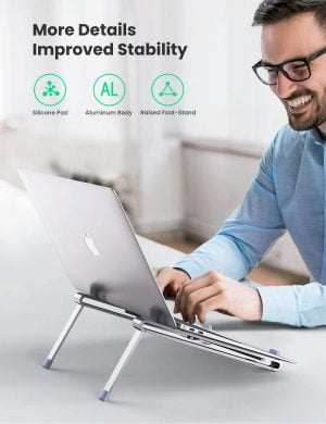 UGREEN Portable Laptop Stand Foldable Lightweight Holder Compatible with 8 - 15.6 Inch Laptops