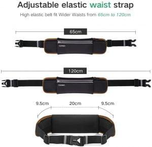 UGREEN Running Waist Bag, Waterproof and Reflective, Black