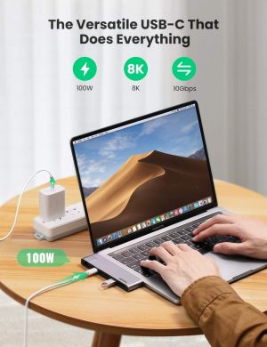 UGREEN USB C Hub for MacBook Air/Pro with 4K HDMI, 1000 Mbps Ethernet, 100W Power Delivery