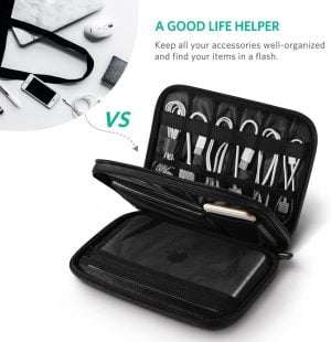 UGREEN Cable Organizer Bag with Double Layer for Maximum Protection