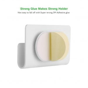 UGREEN Wall Mount Phone Holder with Adhesive Strips, White