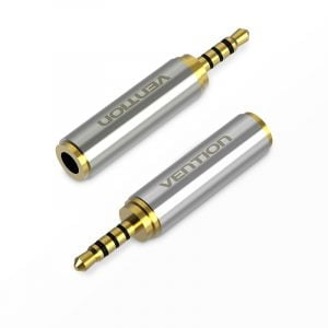 VENTION 2.5mm to 3.5mm Adapter, Male to Female Audio Adapter, 1 Piece