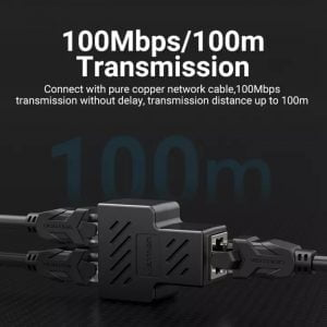 VENTION RJ45 Splitter 1 to 2 100Mbps Speed, 100 Meters Transmission, 2 Pieces