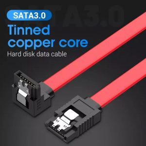 VENTION SATA Cable Straight to Right Angle Connector, SATA III 6Gbps Transfer Speed, 50cm with Screws