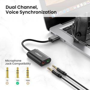 UGREEN USB Audio Adapter Stereo Sound Card, Black